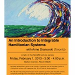 An Introduction to Integrable Hamiltonian Systems - Anne Dranovski