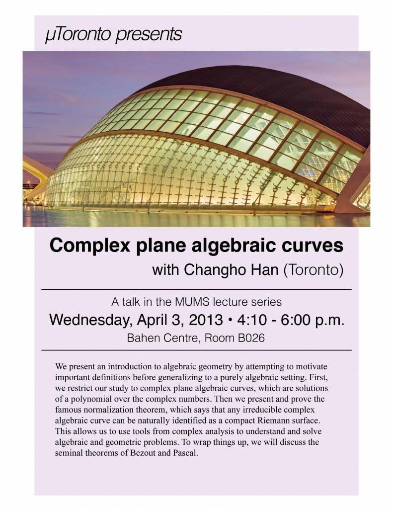 Complex Plane Algebraic Curves - Changho Han