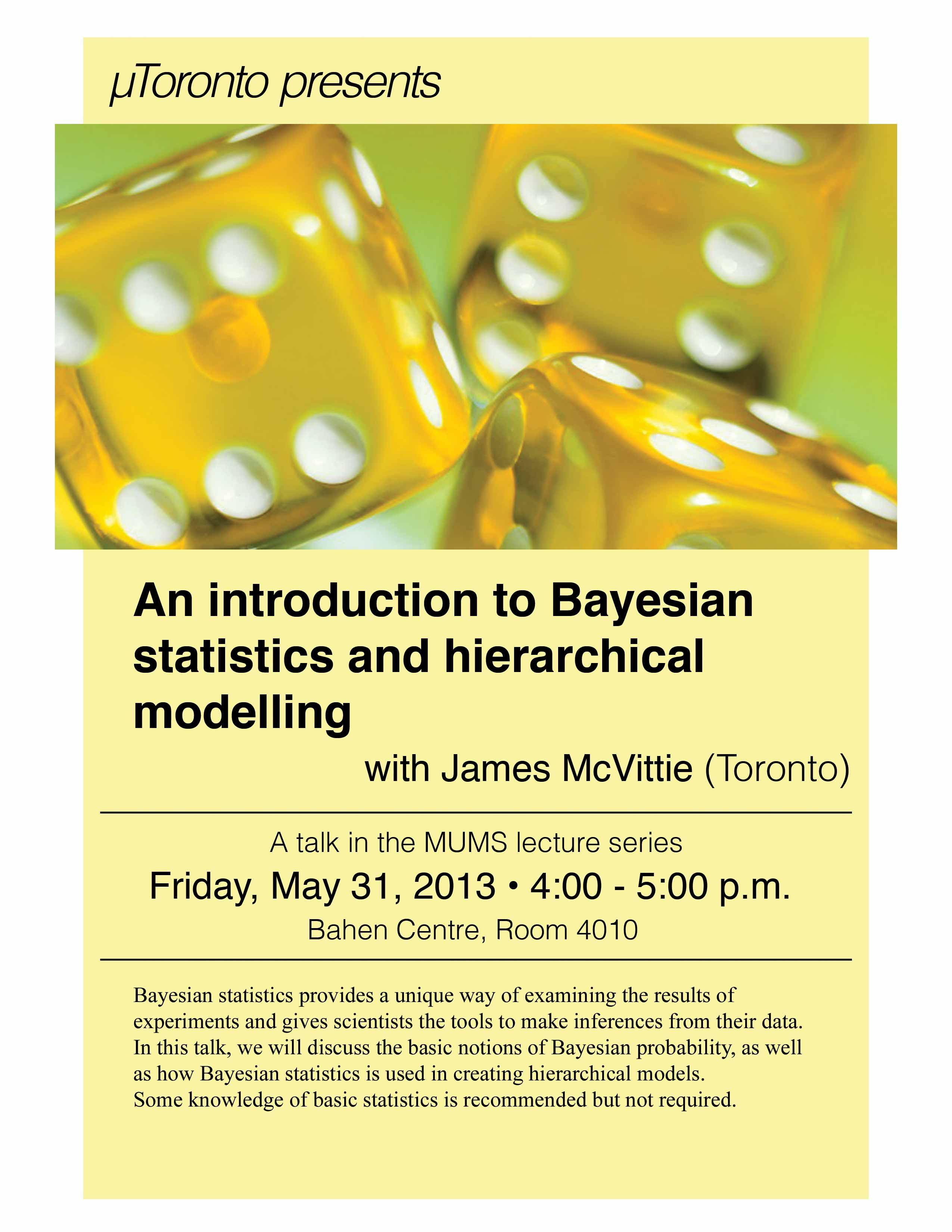 MUMS talk – Bayesian statistics & hierarchical modelling   Math